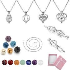 Chakra Gemstone Heart Locket Pendant Necklace Love Gifts Jewelry Set With Box