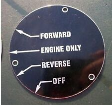 2427 - ENGLISH ELECTRIC Class 37 Control Label