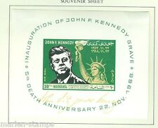 MANAMA JOHN F. KENNEDY & STATUE OF LIBERTY  SILVER  FOIL S/S  MINT HINGED