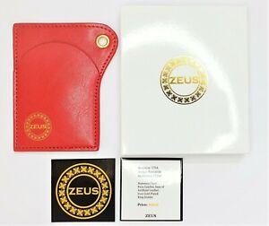 ZEUS Brand Slim Wallet Thin Card Holder Red Luxury Woman Man Economy EDITION
