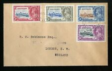 Basutoland KGV 1935 Silver Jubilee set SG11/14 used on FDC