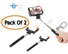 Bluetooth Shutter Extendable Selfie Stick Monopod For iPhone 4 5S 6 (PACK OF 2)