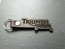 Leather Triumph Tiger motorcycle Keyring. Custom made