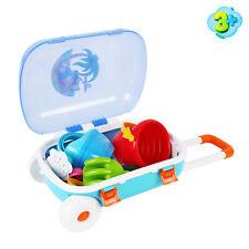 Sandkasten Spielset mit Koffer 11Tlg. Sandspielzeug Sandformen Strandspielzeug