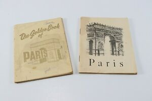 Vintage 1960's LOT of 2 Paris France USA Military Government Personal Tour Books