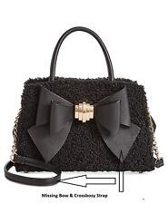 Betsey Johnson Medium Satchel with Removable Bow Retail $119