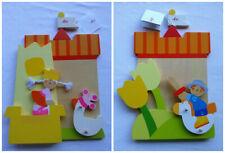"""Deux  cadres décoratifs bois SEVI TRUDI """" princesse """" et """"prince"""""""