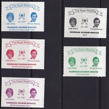 Auc1069) Canada Cinderellas 1981 Royal Wedding Courier Post. Used between Victor