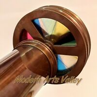 Antique Brass kaleidoscope Vintage Collectible Gift Item