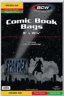 """100 BCW Golden Thick Resealable 2-Mil Polypropylene Comic Book Bags 8"""" x 10 1/2"""""""