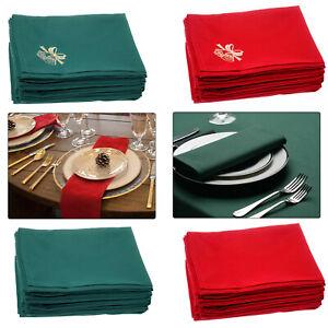 Napkins Table Linen Dinner Cloth Spun Polyester Hotel Wedding Parties 50 x 50cm