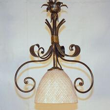 LAMPADA SOSPENSIONE LAMPADARIO LED ART.750 FERRO METALLO VETRO CRISTALLO LIBERTY