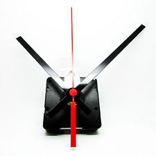 New Radio Controlled Ticking Quartz Clock Movement Mechanism - 130mm Black Hands