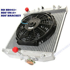 "1 Row Ultra Thin Radiator+10"" Fan for 88-00 Civic 93-97 Civic Del sol Automatic"
