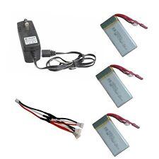 3 pièces 7.4V 1200mAh Batterie+ 3 en 1 Câble+Chargeur Pour MJX X101 RC Q1Q1