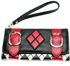 Harley Quinn Logo Themed Hand Purse Trifold Clutch Wallet