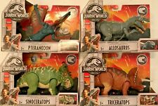 Jurassic World Roarivores Allosaurus Pteranodon Triceratops Sinoceratops set