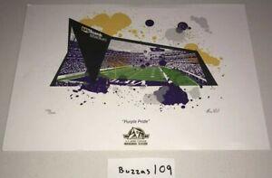 PURPLE PRIDE Gala Signed Art Print #/3000 'US BANK' Vikings Stadium Brian Geihl