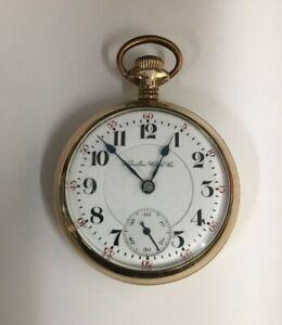 Antique Hamilton Pocket Watch YGF Circa 1904 Running Condition Eagle on Back