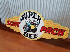 Super Bee metal tin sign bar garage shed Dodge Scat Pack