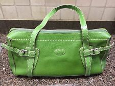 31064 AUTHENTIC TOD'S GREEN LEATHER SHOULDER BAG