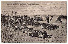 CARTOLINA 1912 OPERAZIONI MILITARI IN TRIPOLITANIA ARTIGLIERIA MONTATA RIF. 9939