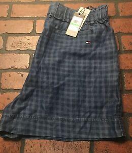 Tommy Hilfiger Denim Blue Soft Jean Shorts Women's Size Large NWT