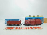 BL680-0,5# 2x Märklin H0/AC Güterwagen/Teleskopwagen 4601/4693 DB, OVP