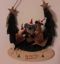 Door Hanger Brush Australian Christmas Xmas with Kookaburra, Kangaroo, Koala MX