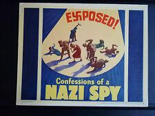 1939 CONFESSIONS OF A NAZI SPY - TITLE LOBBY CARD - WWII WAR - EDWARD G ROBINSON