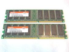 1GB (2x512MB) Hynix HYMD264646D8J-D43 AA-M DDR1/400 PC3200 Speicher Memory RAM
