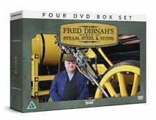 Fred Dibnah's World Of Steam Steel & Stone Collection 4 DVD GIFT SET Seen on BBC