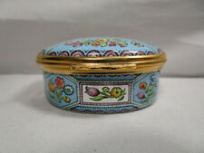 Halcyon Days Enameled - Revival Of English 18th Century - Trinket Box In Package