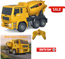 Construction Vehicle RC Cement Mixer Truck 6 Channel 1/18 Scale Auto Dumping