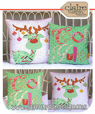 Cool Yule - Applique Sewing Craft PATTERN - Cushion Christmas Shabby Chic