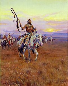 Native American Indian Medicine Man Oil Painting Real Canvas Art Print