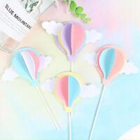 3D Hot Air Balloon Cloud Shape Cake Picks Cupcake Topper Birthday Supplies FF