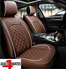 Pour Audi A3 A4 Marron Confortable Simili Cuir Luxe avant Voiture Siège Housses