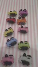 10 Misto in Plastica Colorato Treno pulsanti 20 mm x 19 mm