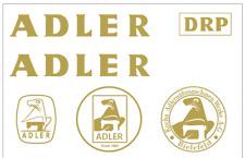 Adler 30-7 Commercial Sewing Machine Restoration Decals