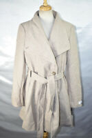 Calvin Klein Women's Toggle Wrap Wool Trench Coat, Belted, Size L, $254, NwT