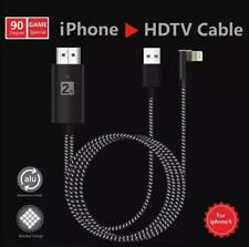 8 pin  to HDMI Cable Adapter HDTV AV 2M for iPhone 6 6S 7 8 X Plus iPad