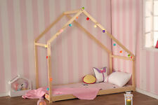 Twin Size Children House Bed Finnish Pine Furniture Frame Floor Bedroom Bed New