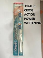 Original Braun Oral-B CrossAction Power Whitening Toothbrush 2 Brush HeadsCHEAP