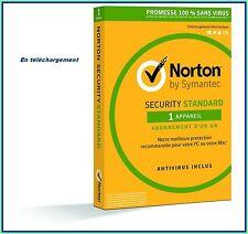 NORTON SECURITY 2018 avec antivirus 1 PC / 1An -Licence envoyée par mail