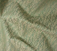 """Vintage Teal Chenille Damask Upholstery Fabric 6 yds - 56"""" x 216"""""""