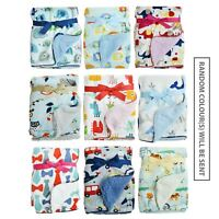 Boys Girls Baby Blanket Soft Colourful Mink Sherpa Lining Printed Front Design