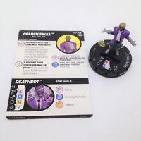 Heroclix Avengers Infinity set Golden Skull #040 Super Rare figure w/card!