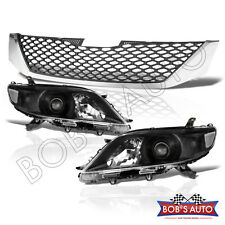 2011-2017 Toyota Sienna JDM Black Clear [SE Conversion] Headlights Upper Grille