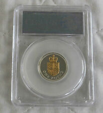 2008 GOLDEN SILHOUETTE £1 SILVER PROOF SLABBED CGS 96 - royal shield design